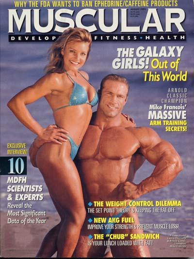 cover delle riviste di bodybuilding dedicate a Michael Francois MUSCULAR DEVELOPMENT