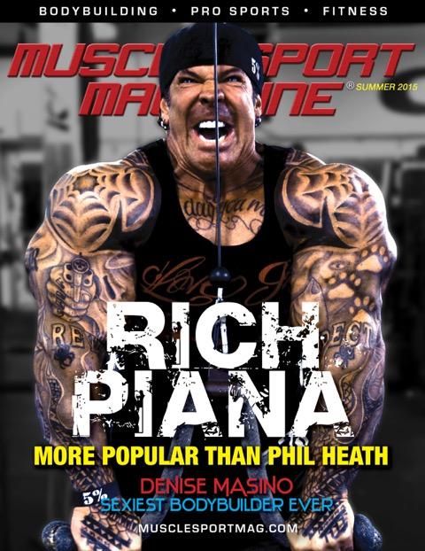 rich piana sulla cover di muscle sport magazine