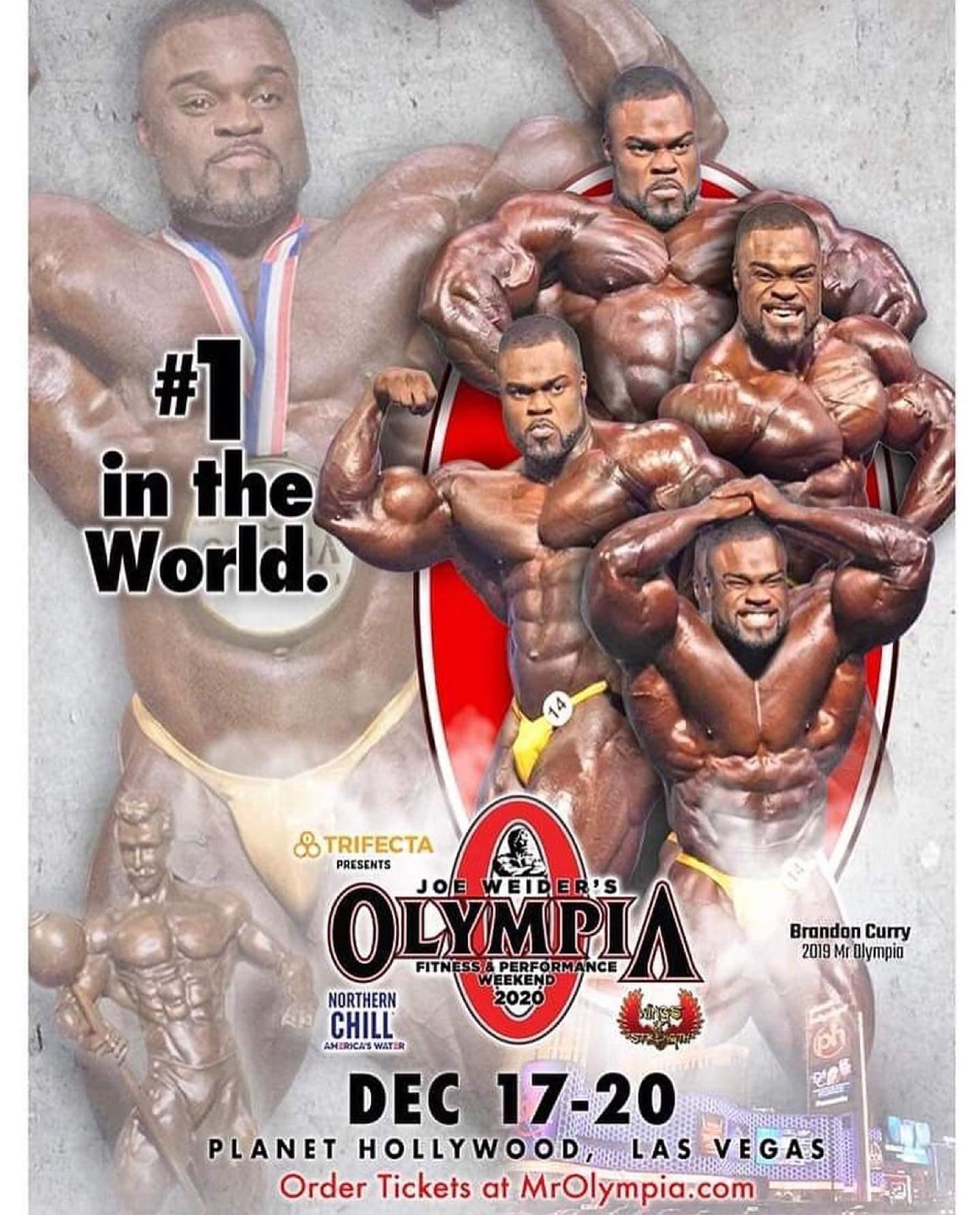 brandon curry sul poster del mister olympia 2020