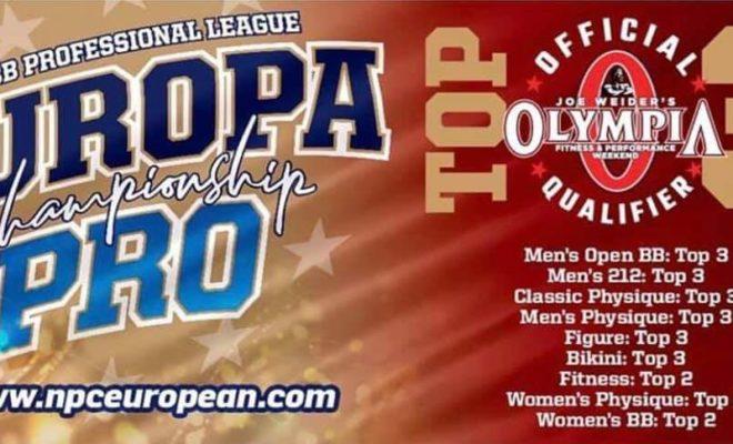 2020 EUROPA PRO CHAMPIONSHIP cambio regole di qualificazione all'olympia weekend 2020