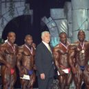 The top six with Joe Weider and Arnold Schwarzenegger - 2000 Arnold Classic