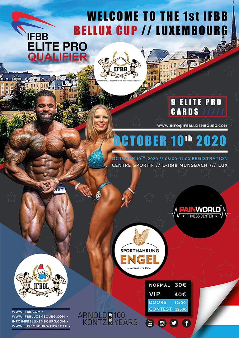 1ST IFBB BELLUX CUP LUXEMBOURG locandina