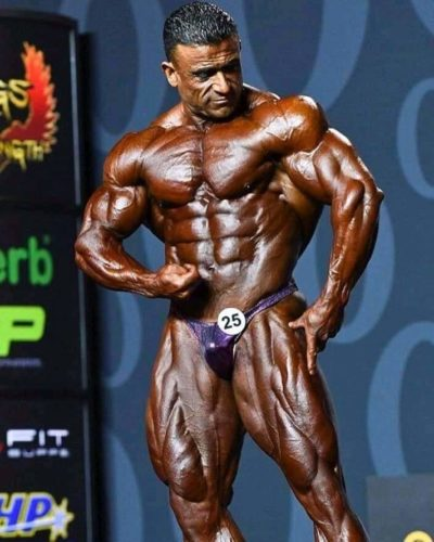 kamal elgargni mister olympia 2019 durante la posing routine