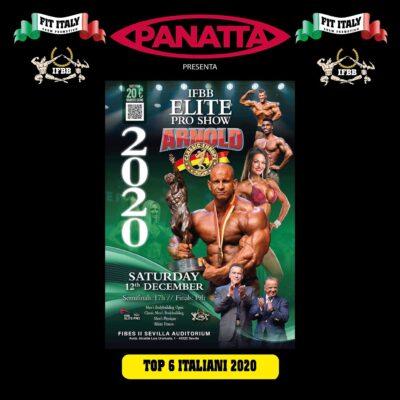 qualificazione arnold classic europe 2020 top six ai campionati italiani ifbb 2020