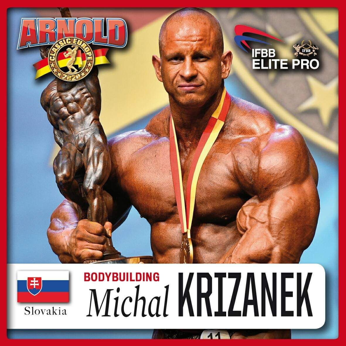 MICHAL KRIZANECK IFBB ELITE PRO parteciperà all'Arnold Classic Europe 2020 ifbb elite pro