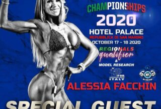 alessia facchin ospite all'Italian Championships 2020 della IFBB PRO LEAGUE ITALY