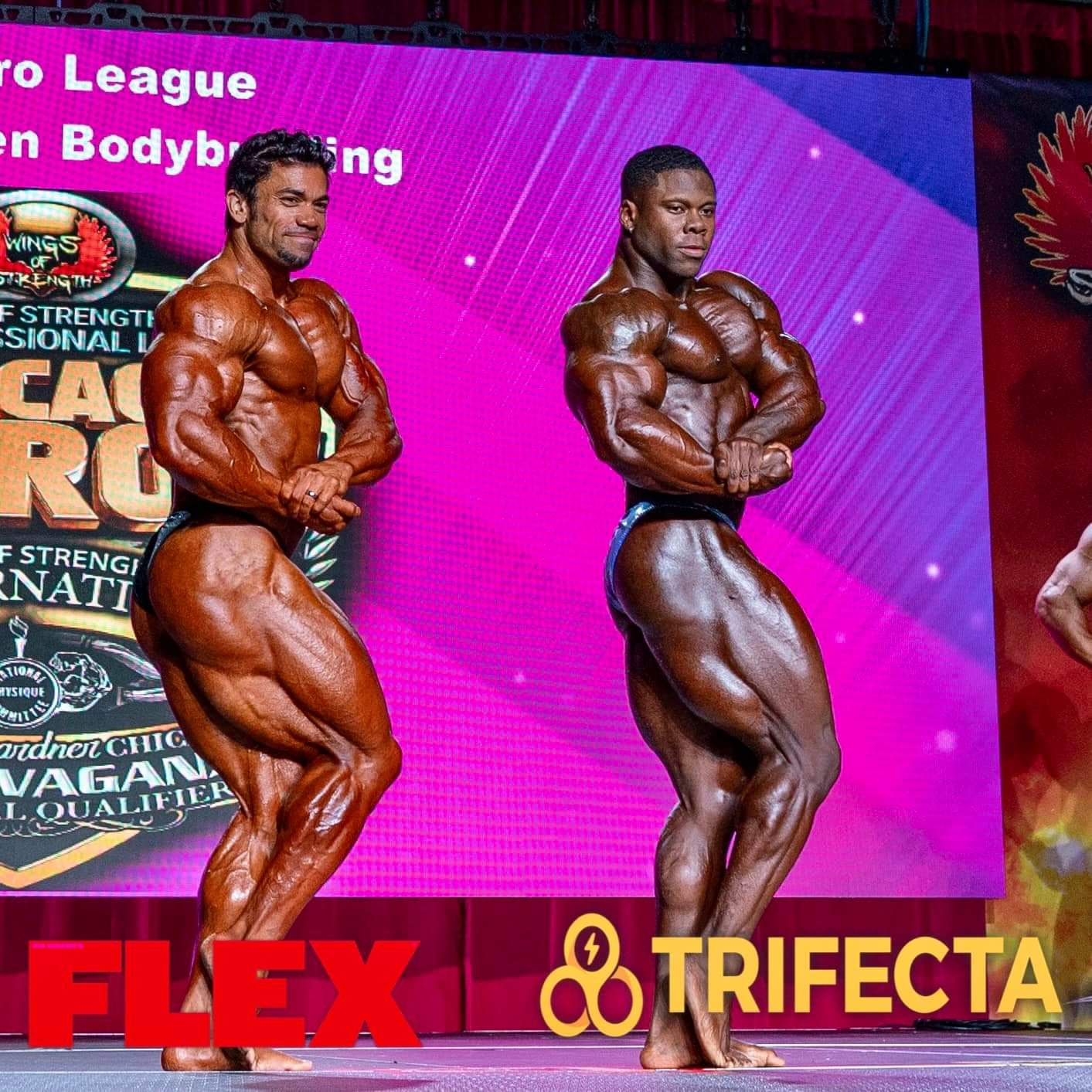 KEONE PEARSON VS AUSTIN KARR AL CHICAGO PRO IFBB 2020 posa di side chest