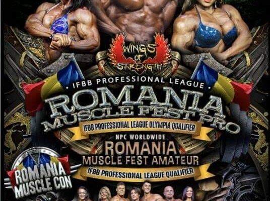 2020 romania muscle fest locandina pro ifbb