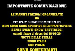 ifbb italia comunicato gare 2020