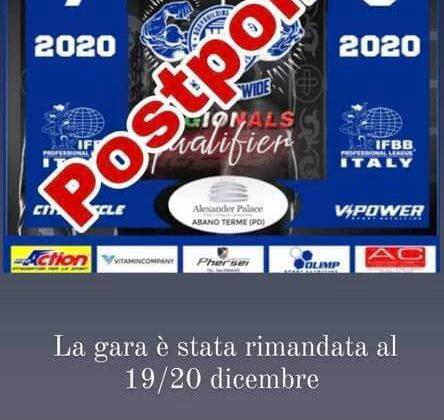 TROFEO LA SERENISSIMA 2020 REGIONAL QUALIFIER gara posticipata a dicembre