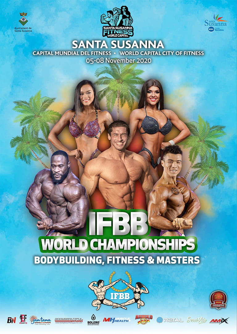 74th IFBB Men's World Amateur Bodybuilding Championships, the World Fitness Championships, Master World Championships 2020
