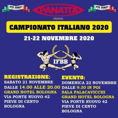 campionato italiano ifbb italia 2020