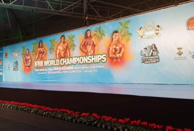 il palco IFBB WORLD CHAMPIONSHIPS BODYBUILDING & FITNESS & MASTER 2020