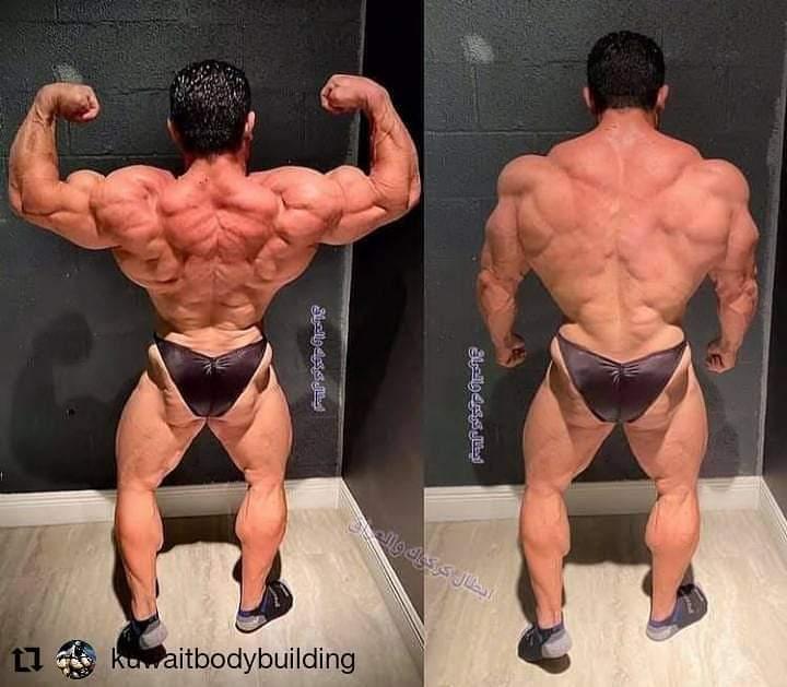 la schiena di Kamal Elgargni in preparazione per il mister olympia 2020
