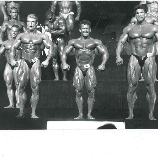 dorian yates sul palco del mister olympia 1992