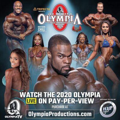 la locandina del mister olympia 2020