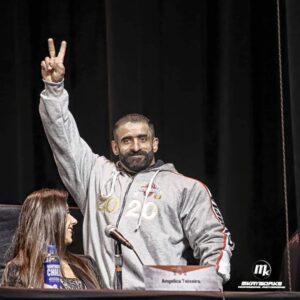 hadi choopan alla conferenza stampa del mister olympia 2020