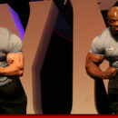 press conference mister olympia 2004 Gunter Schlierkamp VS Ronnie Coleman posa di most musular