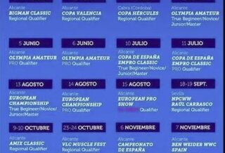 calendario gare pro league npc worldwide spagna 2021