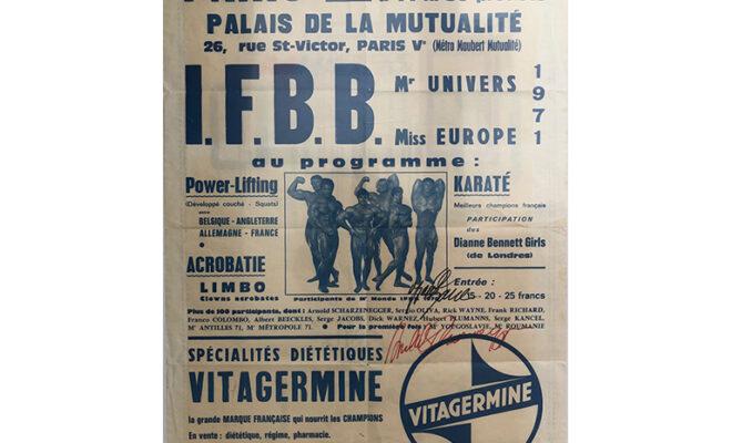 locandina IFBB Mr. Universe 1971