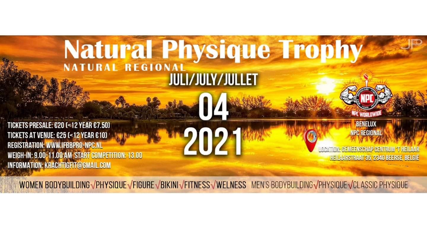 natural physique trophy natural regional