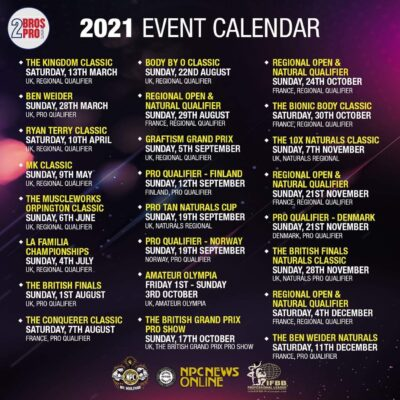 calendario gare 2021 2 bro pro events