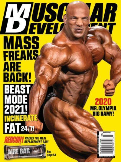 big rami mister olympia 2020 conquista la cover di muscular development di marzo 2021