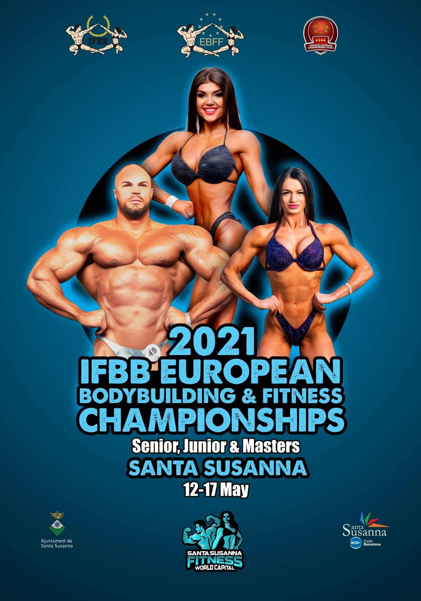 locandina 2021 ifbb european bodybuilding & fitness championships
