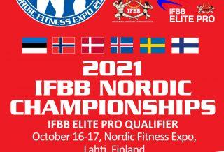 2021 IFBB NORDIC CHAMPIONSHIPS LOCANDINA