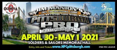 2021 Jim Manion's Pittsburgh Pro Championships locandina