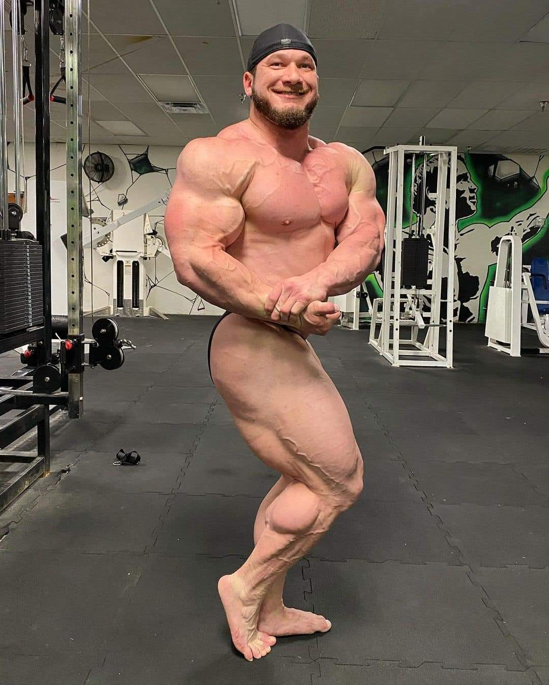 hunter labrada pro ifbb road to 2021 chicago pro ifbb posa side chest