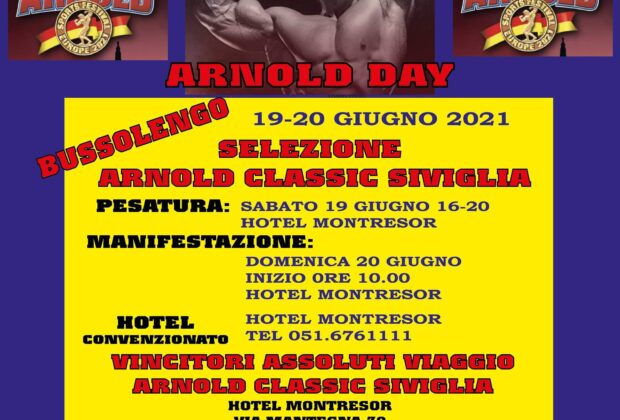 2021 arnold day ifbb italia locandina