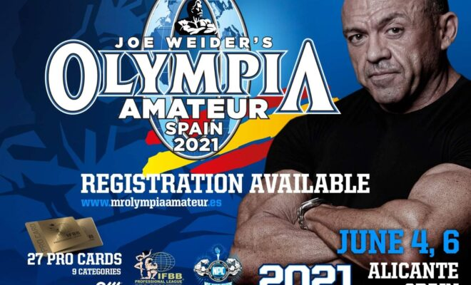 locandina olympia amateur spain 2021