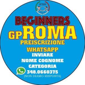 iscrizione obbligatoria grand prix roma 2021