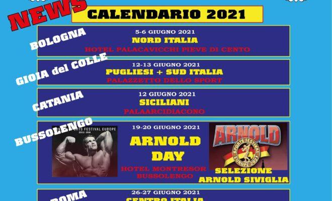 calendario aggiornato al 1 giugno 2021 beginners ifbb italia