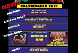 calendario aggiornato al 1 giugno 2021 ifbb italia