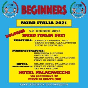 locandina NORD ITALIA IFBB 2021 BEGINNERS