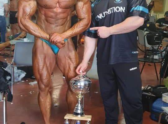 vincitore assoluto bodybuilding al grand prix roma ifbb italia 2021 cecili manolo