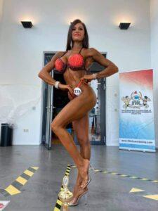 Beatrice Astolfi quarta nella categoria bikini fitness fino a 169 cm al 2021 IFBB DIAMOND CUP LUXEMBOURG