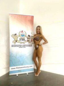 Francesca Petrella sesta nella categoria master bikini fitness al 2021 IFBB DIAMOND CUP LUXEMBOURG