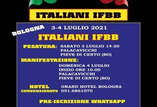 locandina campionato italiano ifbb 2021 bologna