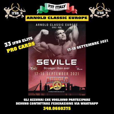 come partecipare all'Arnold Classic Europe 2021