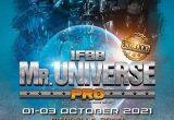 locandina MISTER UNIVERSE IFBB ELITE PRO 2021