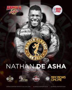 nathan de asha sarà all'Arnold Classic UK 2021