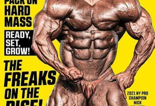 nick walker sulla cover della rivista muscular development