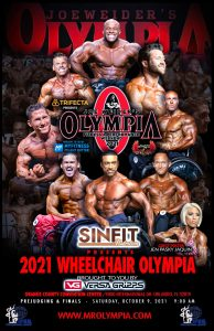 il poster del mister olympia wheelchair 2021